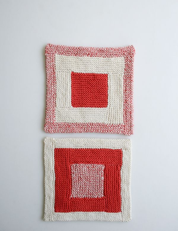 Very Sweet New Log Cabin Washcloths Pattern By Purl Soho Knitting