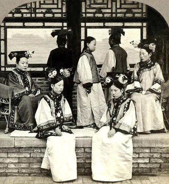 Countries Cultures China: Manchu Noblewomen And Bond Servant 1902