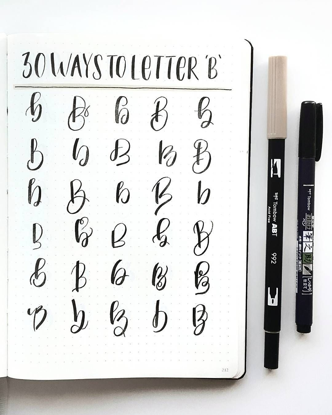 Hand Lettering Inspiration And Instruction Bullet Journal