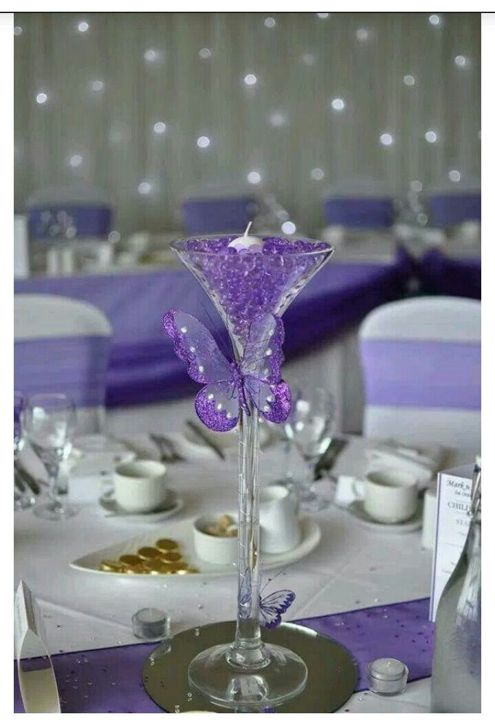 Party Centerpieces Centrepieces Erfly Table Decorations Decoration Purple