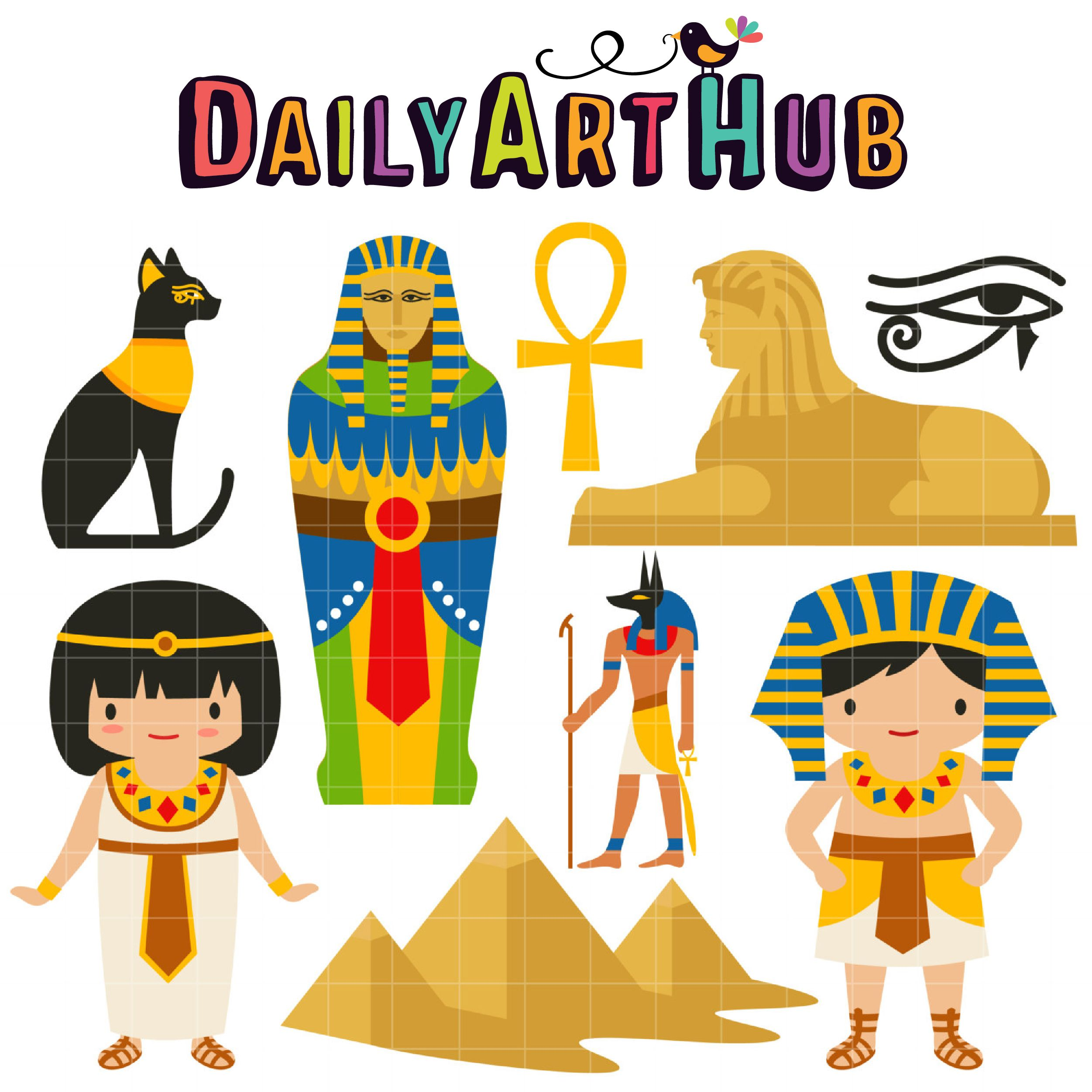 Ancient Egypt Clip Art Set