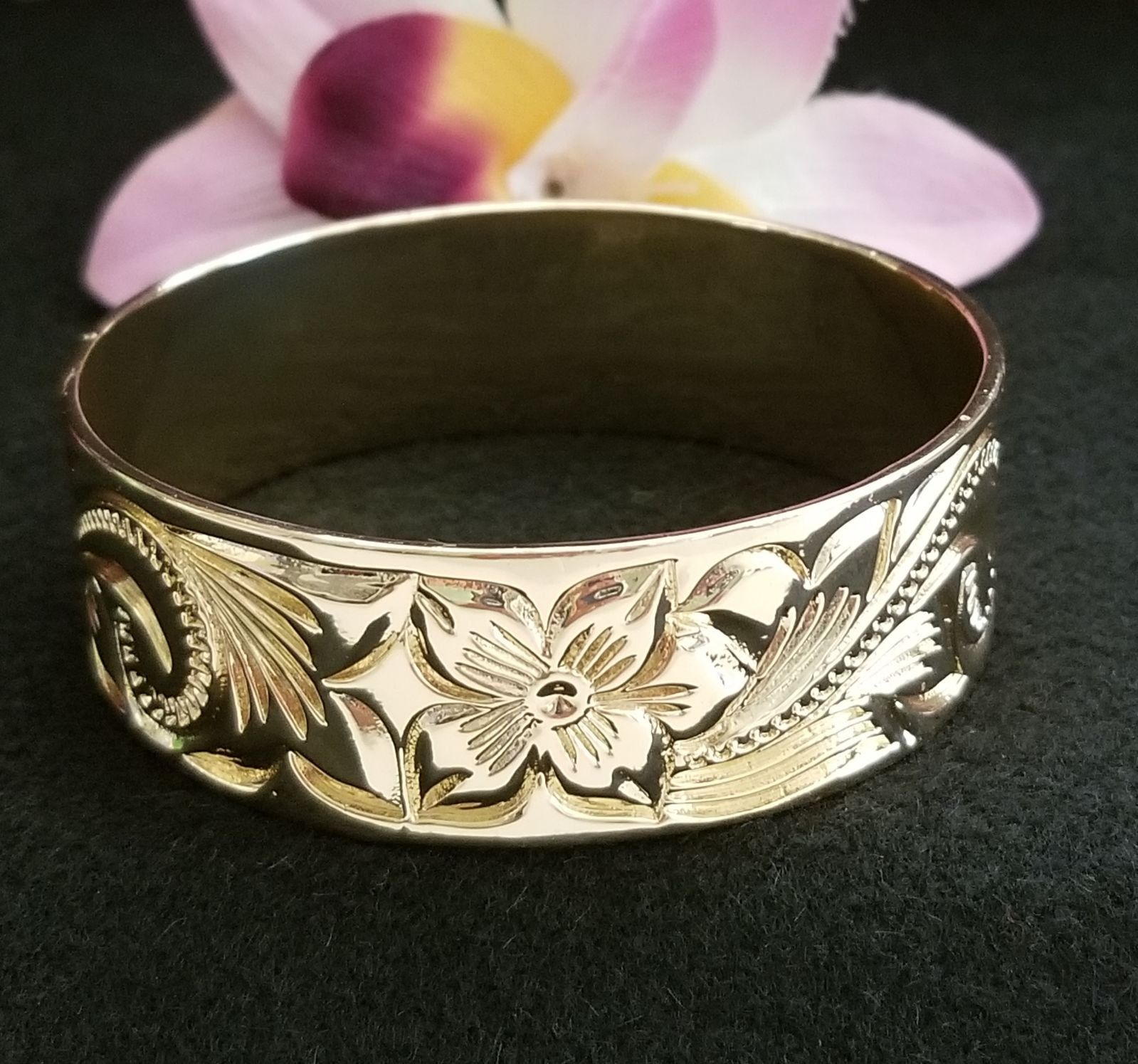 25mm gold hawaiian bangle bracelet hawaiian bracelet