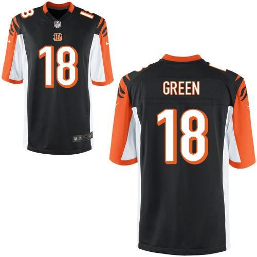 a9771d65e A J Green Black Youth Limited Nike Bengals 18 NFL Jersey