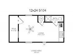 12x24 1st floor w loft cabin house plans pinterest for 12x24 tiny house plans
