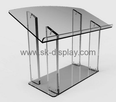 Factory wholesale cheap acrylic crystal lectern podium AFS-072