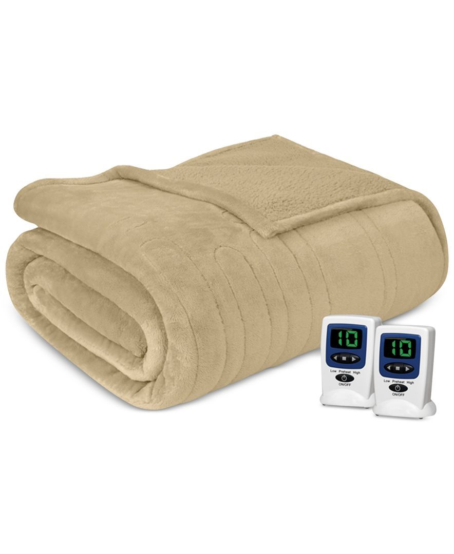 Microlight Berber Twin Electric Blanket Heated Blanket Heated