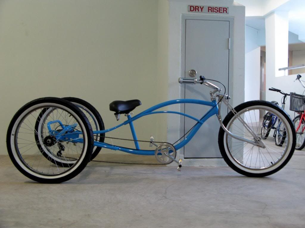Bicycles Stretch Trike Cruiser Conversion Motorized Bicycle