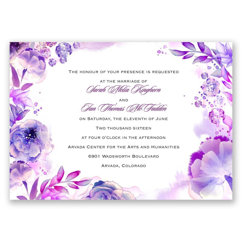 Watercolor Dream Invitation Affordable Wedding Invitations