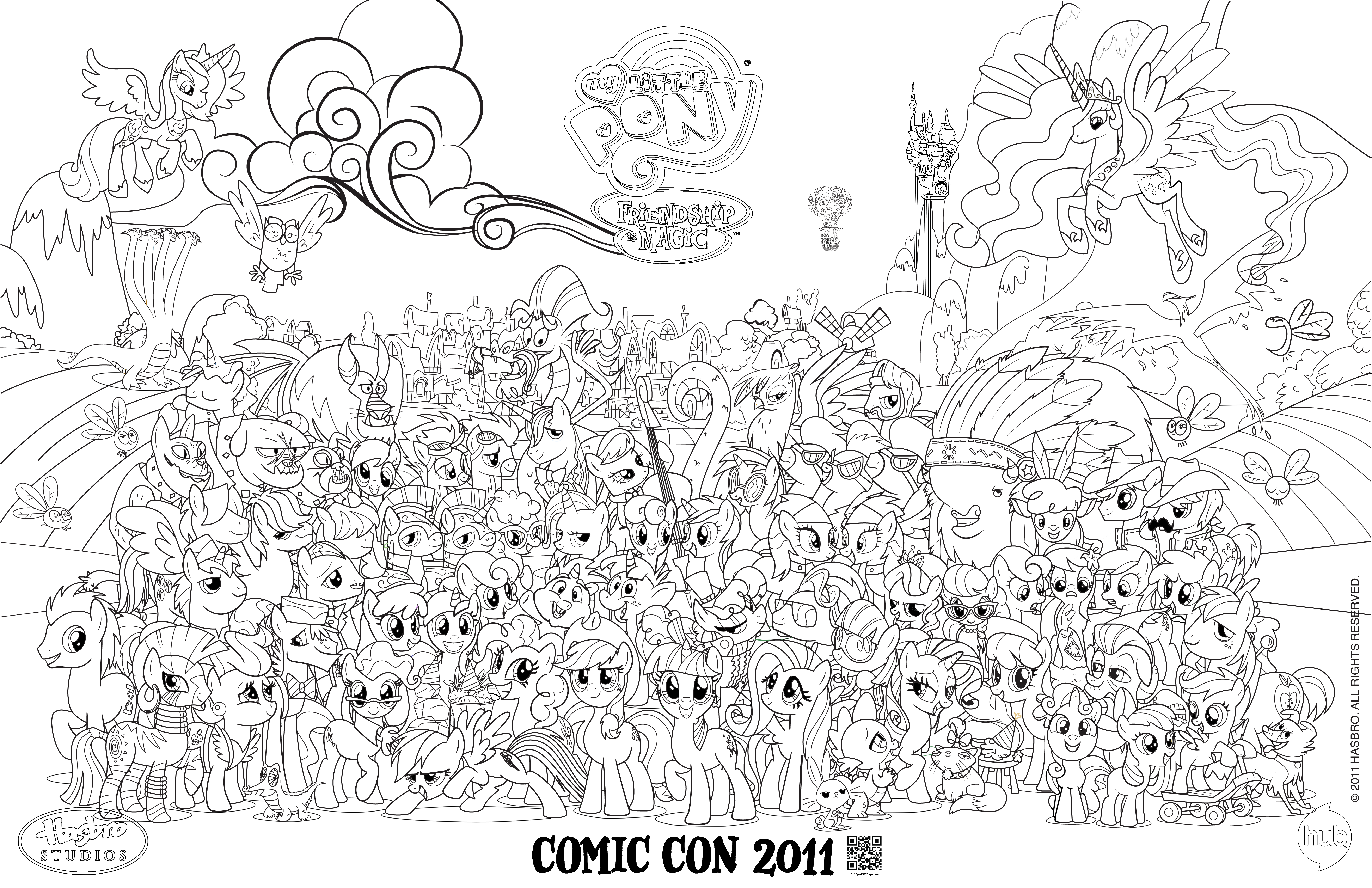 Blank Mlp Comic Con Poster For Coloring My Little Pony Coloring Cute Coloring Pages My Little Pony Printable