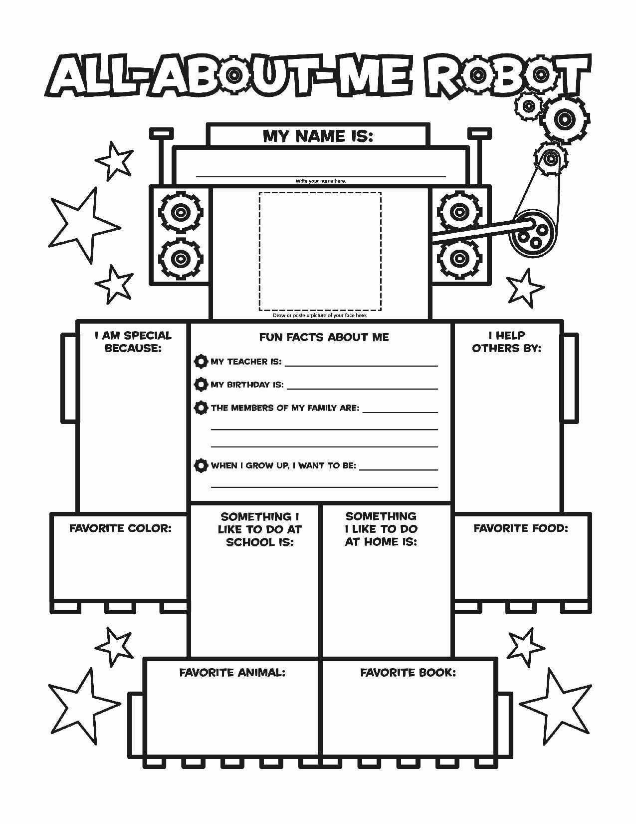 All About Me Printable Worksheet New All About Me