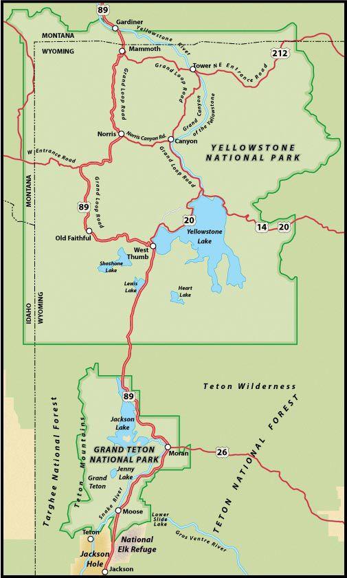 Us Route 89 Road Trip Jackson Wyoming To Gardiner Montana Gardiner Montana Jackson Wyoming Road Trip Map