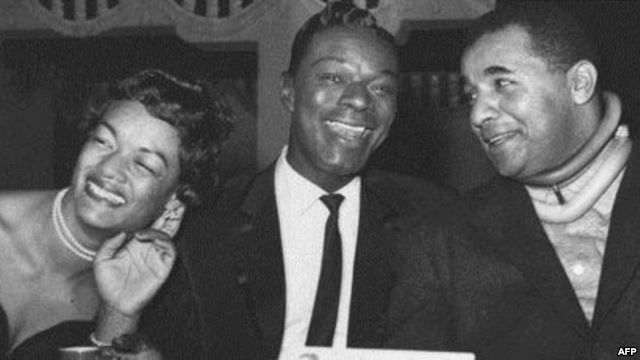 Nat King Cole Wife | nat king cole center with baseball player roy campanella and his wife ...