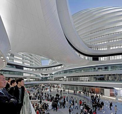 Vogue Living remembers the work of architect Zaha Hadid: Galaxy Soho, Beijing Photo: Hufton + Crow