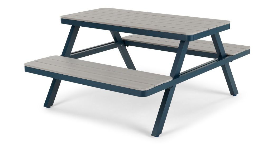 Super Thada Garden Pic Nic Table Polywood And Dark Blue In 2019 Unemploymentrelief Wooden Chair Designs For Living Room Unemploymentrelieforg