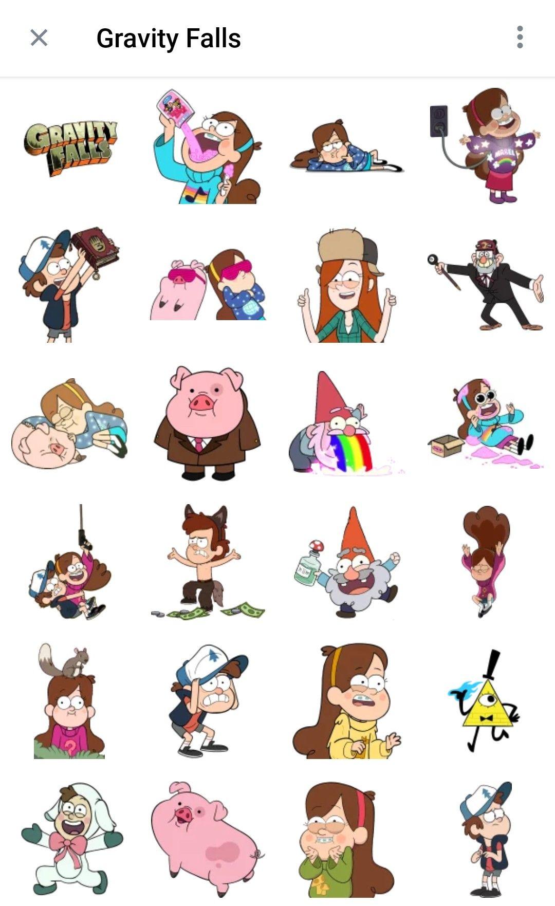 Gravity Falls Telegram Stickers Pack Gravity Falls Telegram Stickers Cute Stickers