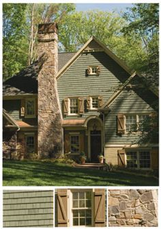 Image Result For Cabin Exterior Dark Brown Green Our