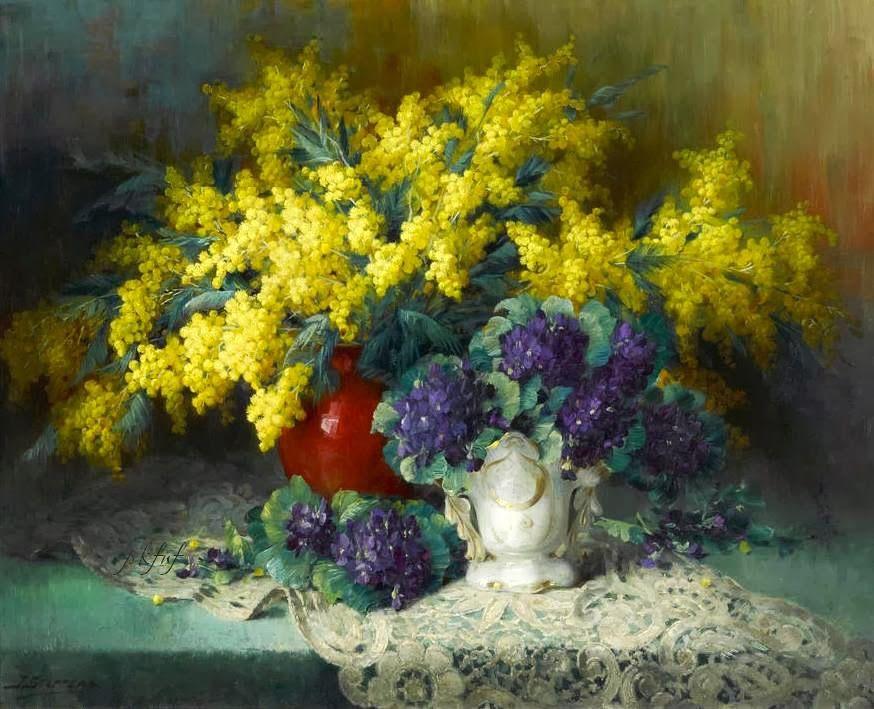 Julien Stappers   Still life with Flowers painter   Tutt'Art@