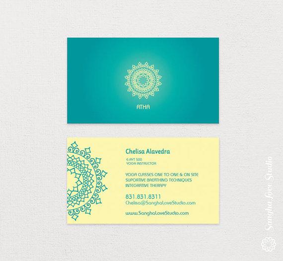 Atha Yoga Business Card Or Wellness Yoga Business Card Etsy Yoga Business Wellness Yoga Yoga