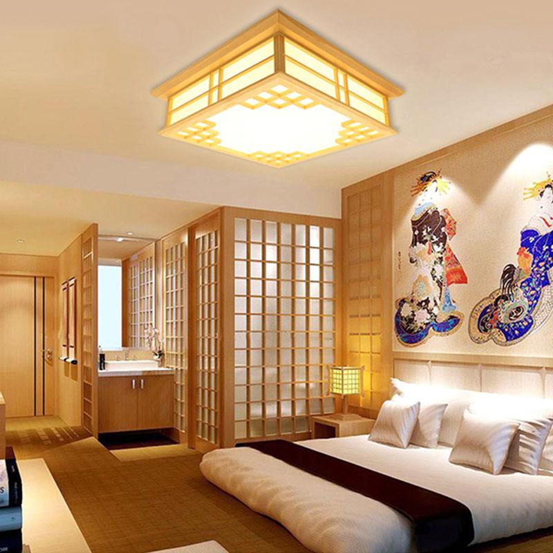 Eckige LED Deckenleuchte für Schlafzimmer Moderne