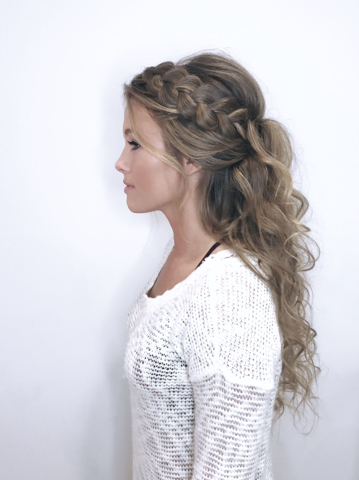 Boho bridal hair with dutch braid | Braids, Updos, Curls, & more ...