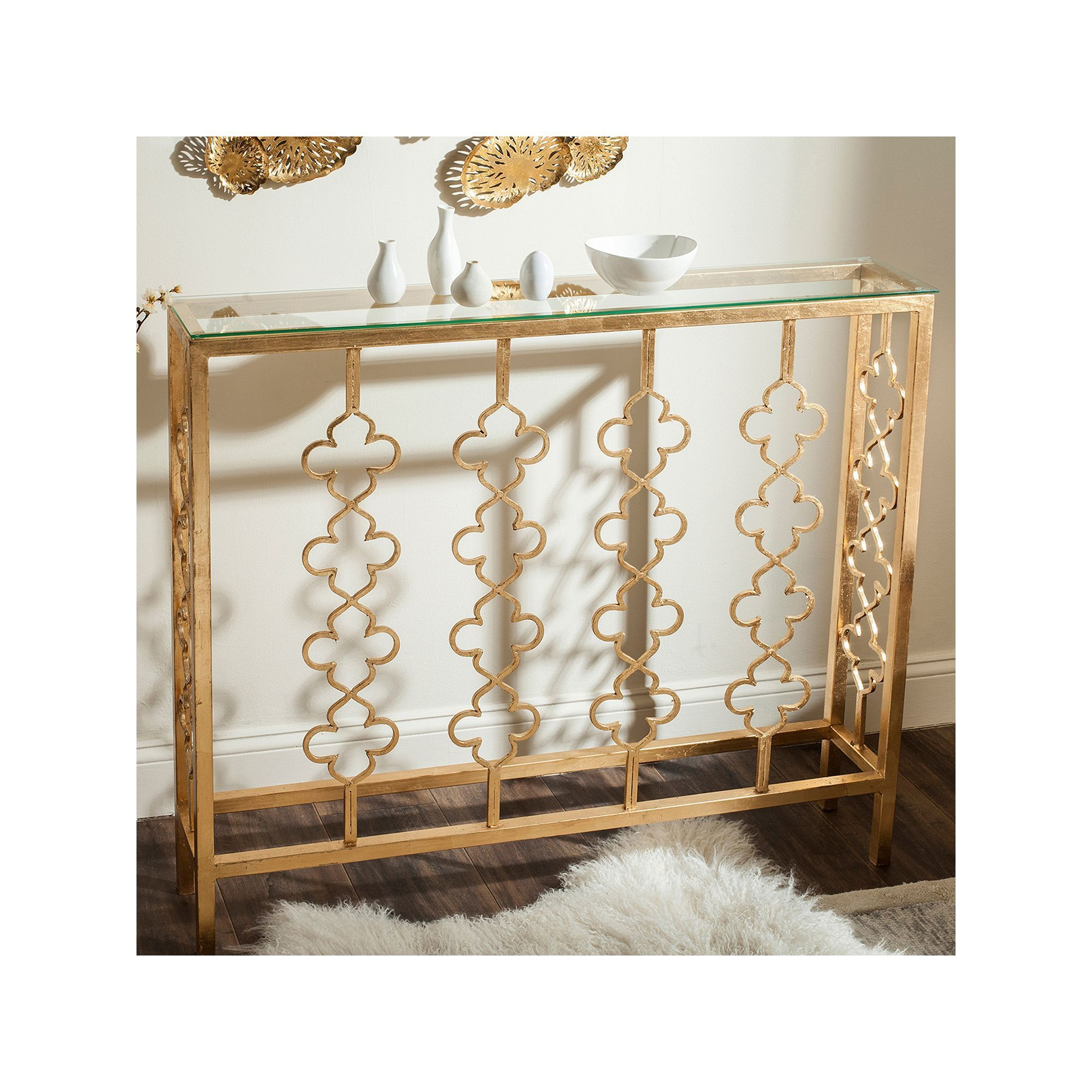 144d6bc40abd4 Gold - Accent Tables - Living Room Furniture - The Home Depot. Safavieh  Carolina Console Table