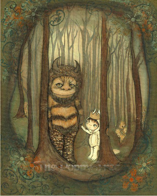 Wild Things Print Where The Wild Things Are Children Moishe Wall Art ...