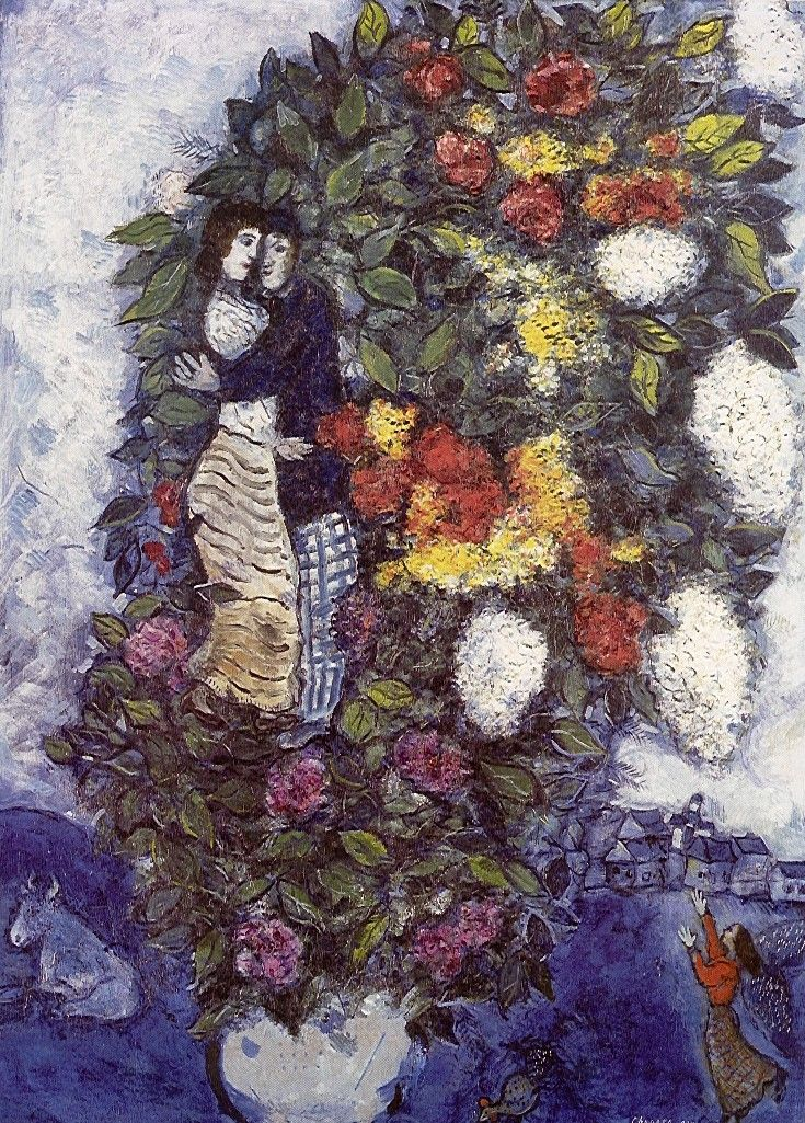 Marc Chagall's Bouquet of Flowers.