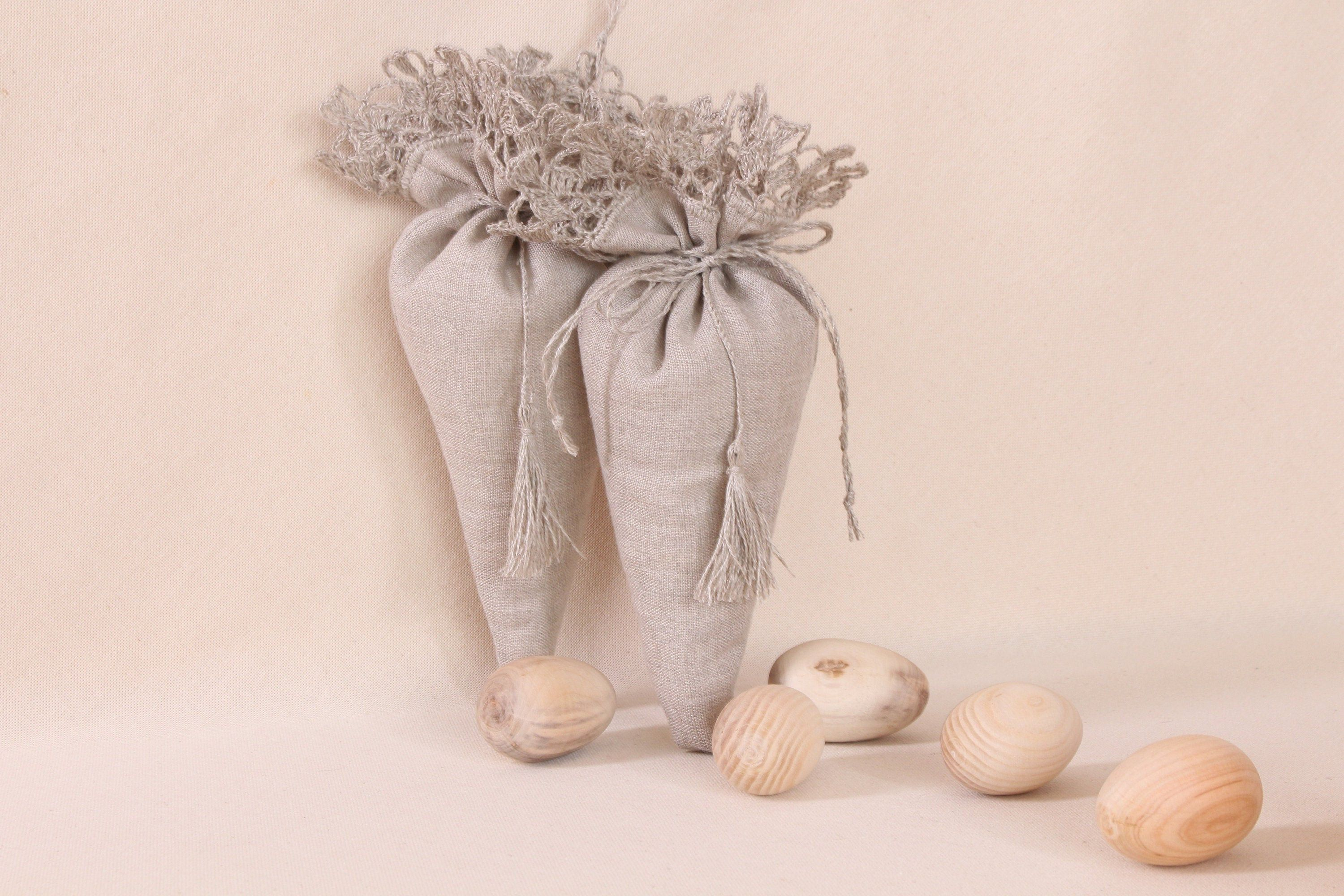 Linen Gift Bags Wedding Favor Bags Drawstring Small