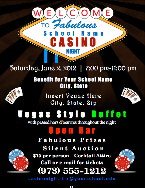 Casino Party and Fundraising Rentals