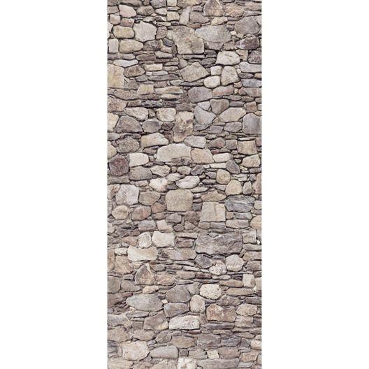 Poster De Porte Stone Wall 92 X 202 Cm Décoration