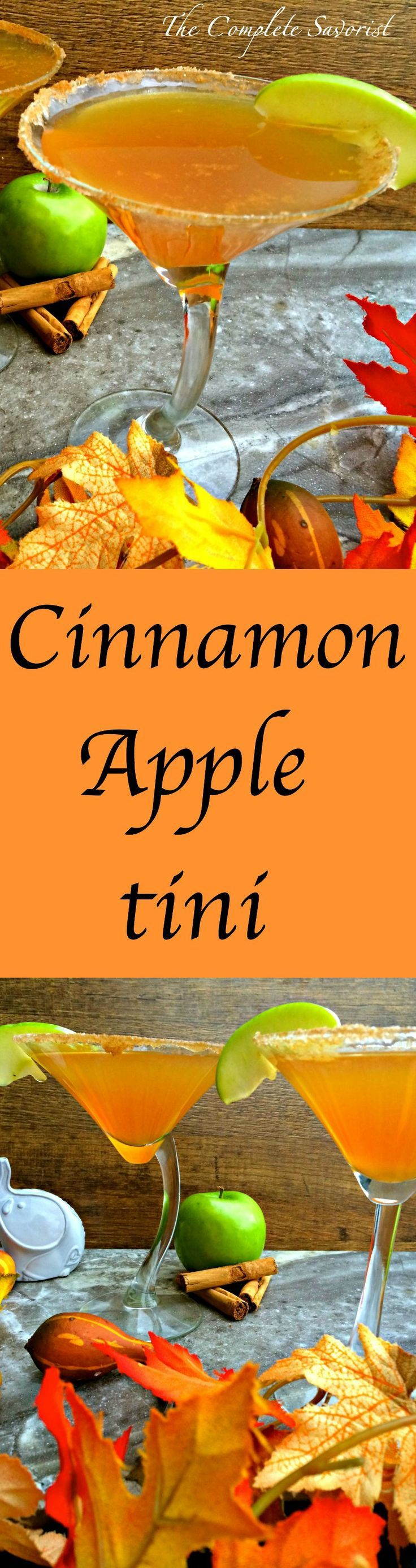 Cinnamon Apple-tini is a delicious fall flavored cocktail, perfect for entertaining ~ The Complete Savorist