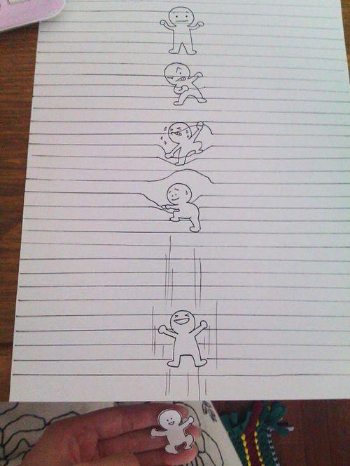 funny creative drawing paper sheet drawing drawings art cool