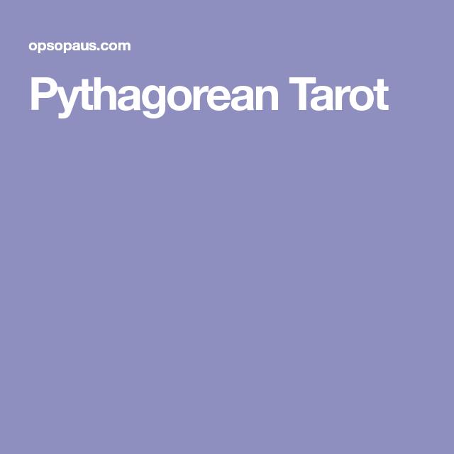Pythagorean Tarot