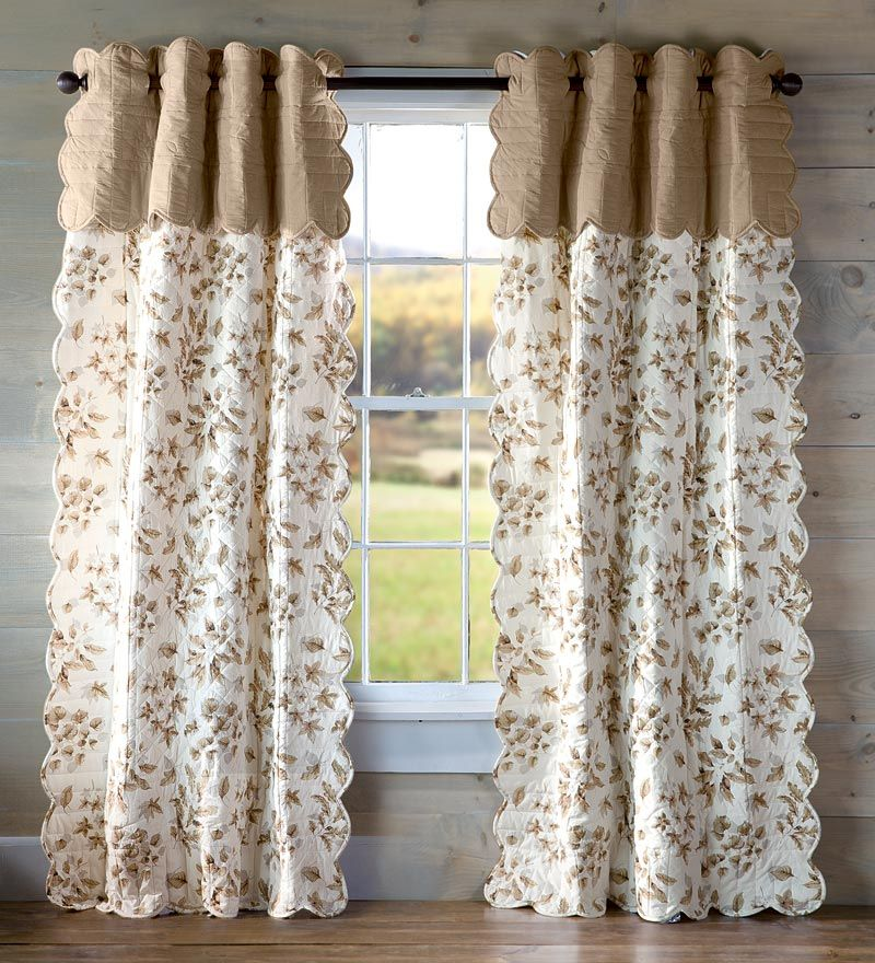 Idea For Quilted Curtains To Insulate Sunroom Going To