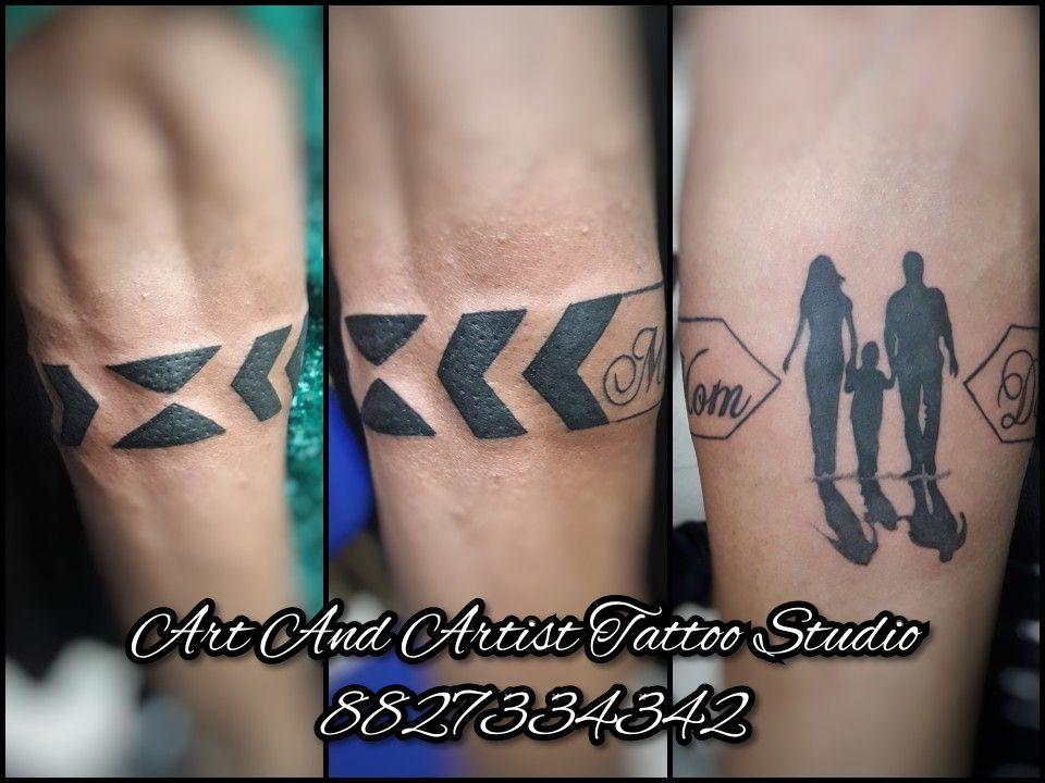 Mom Dad Band Tattoo Design In 2020 Band Tattoo Designs Band Tattoo Tattoos