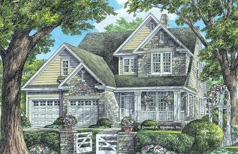 House Plan The Madaridge W Pin 974 This Arts N Craft House Plan Has Incredible Curb Appe Cottage House Plans Narrow Lot House Plans Country Style House Plans