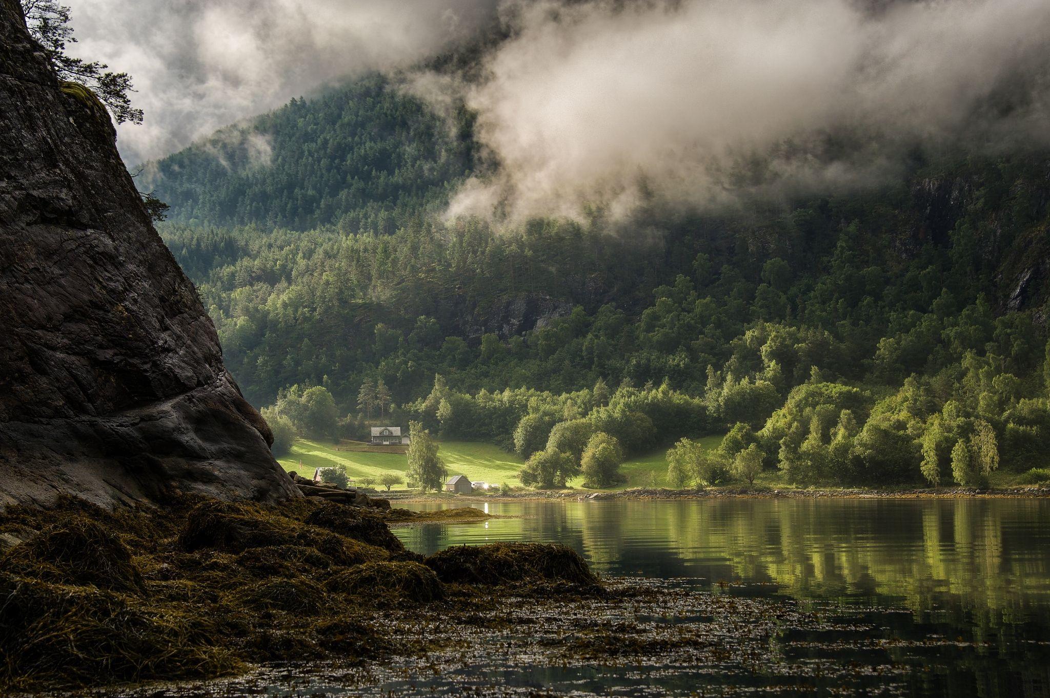 Morning light in Sognefjorden - best on black