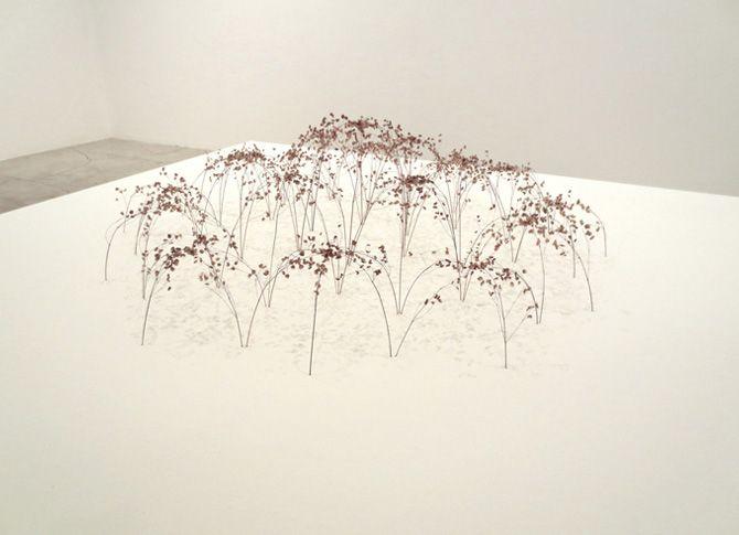 Christiane Loehr - Grosse Bogenform, big arch form, 2013, grass stalks