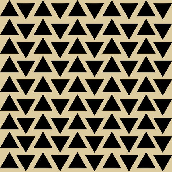 Aztec Triangles Pattern Reusable Stencil For Fabric Wood Paper