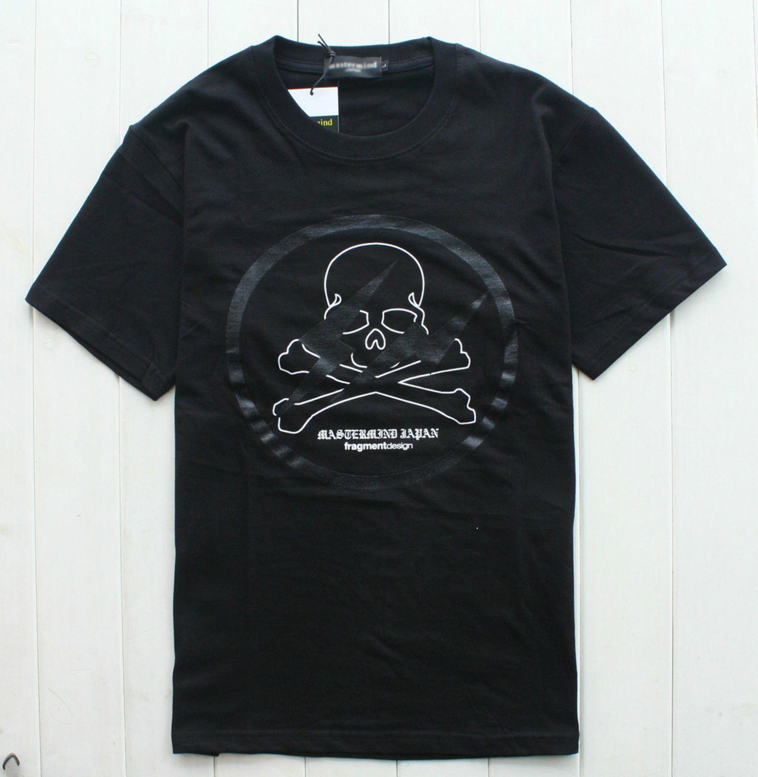 Mastermind Japan MMJ x Fragment Lightning Graphic Cutton Tee Shirt 3 Sz Black | eBay