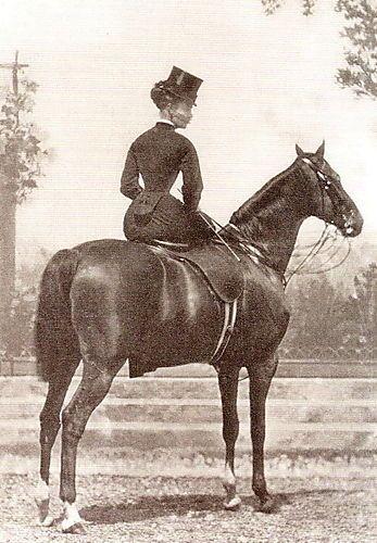 RARE Vintage SIDESADDLE Horse GRETA GARBO Antique PHOTO *CANVAS* Art PRINT