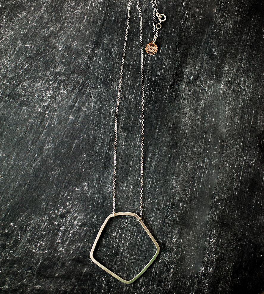 Silver Pentagon Necklace