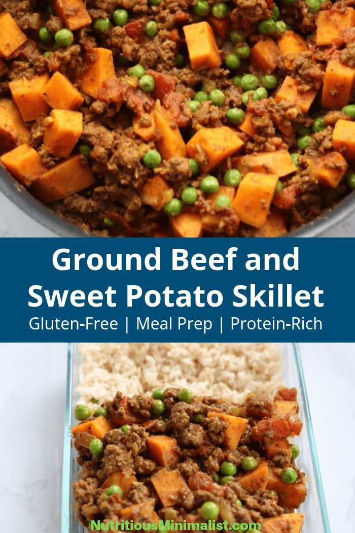 Ground Beef And Sweet Potato Skillet Recipe Made With Ground Beef Sweet Potatoes Curry In 2020 Ground Beef Recipes Healthy Healthy Ground Beef Healthy Beef Recipes