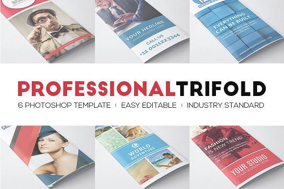 Printable Tri Fold Brochure Template Professional Trifolds Bundle  Pinterest  Brochures Template And .