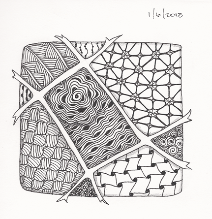 #27 First Zentangle of 2013.