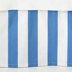 Pine Cone Hill Alex French Blue Paneled Bed Skirt PCHPC209