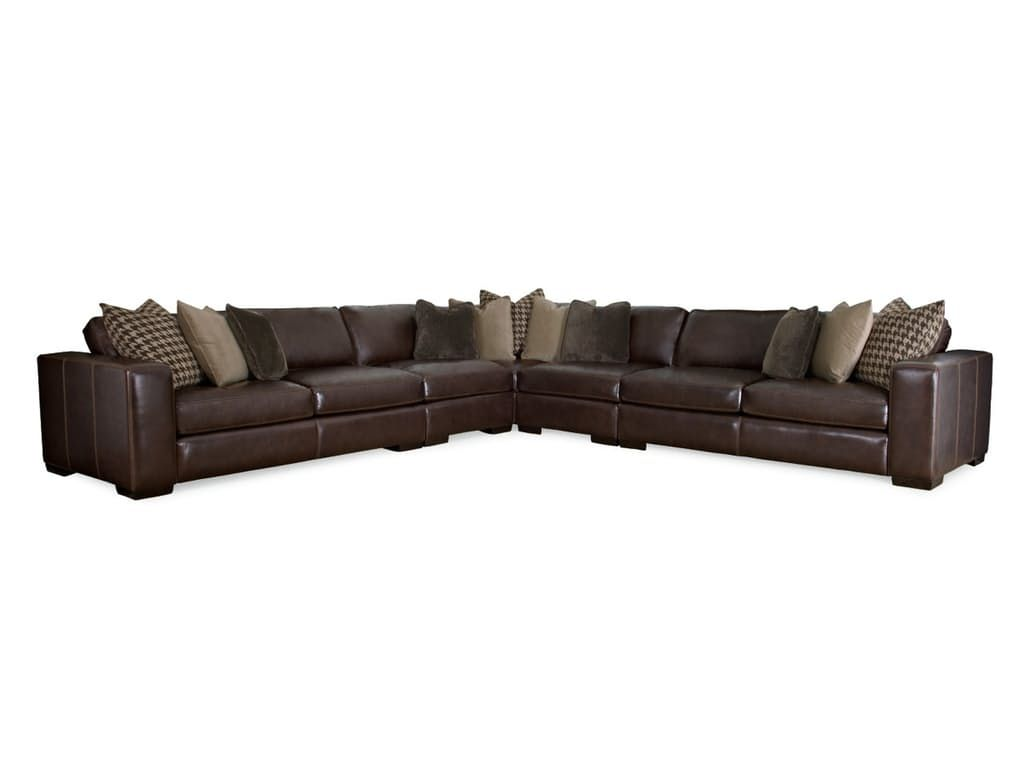 Bernhardt Living Room 5pc Dorian Sectional G60840 Living