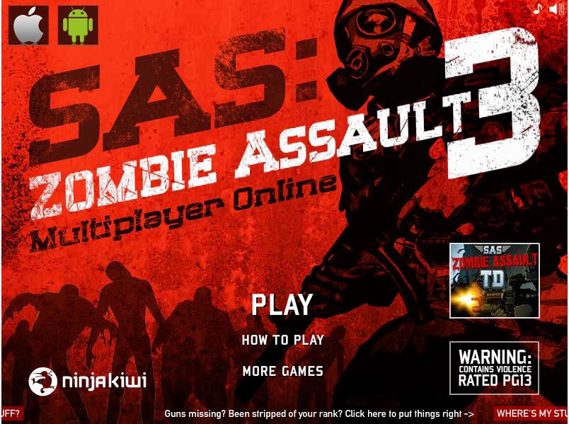 SAS Zombie Assault 3 hacked Zombie assault, Games