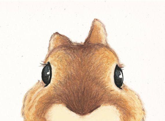 Ähnliche Artikel wie Süße braune Kaninchen Illustration auf Recyclingpapier auf Etsy
