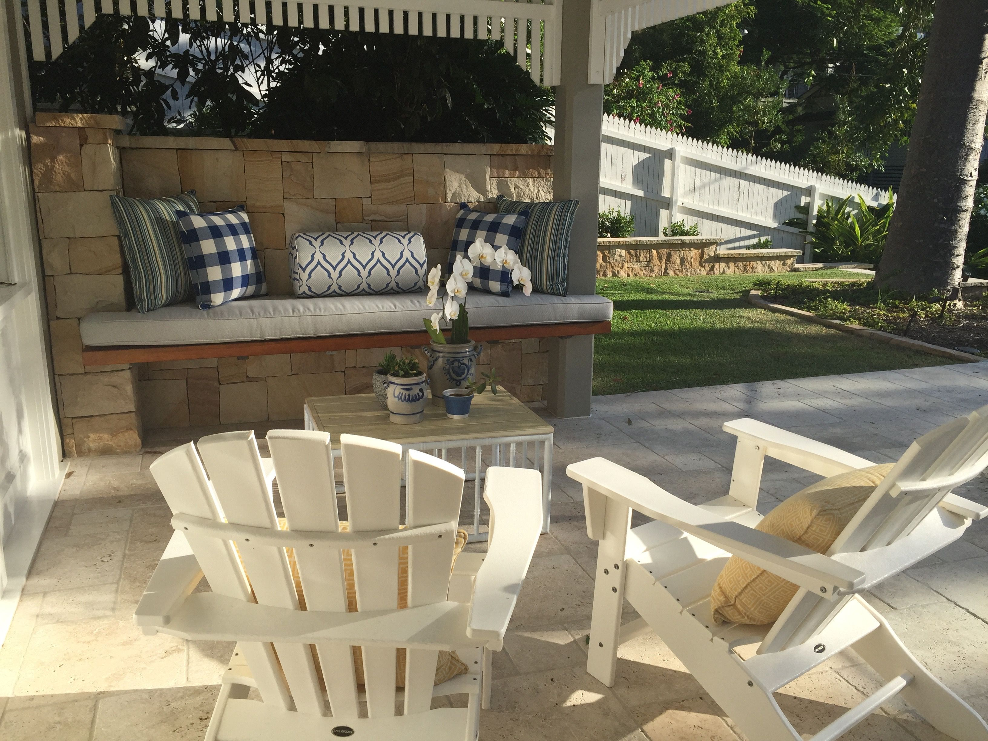 Towoong Garden designed by My Verandah - Seating/sandstone ...
